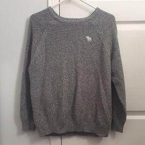 Long sleeve shirt/knitted crew neck